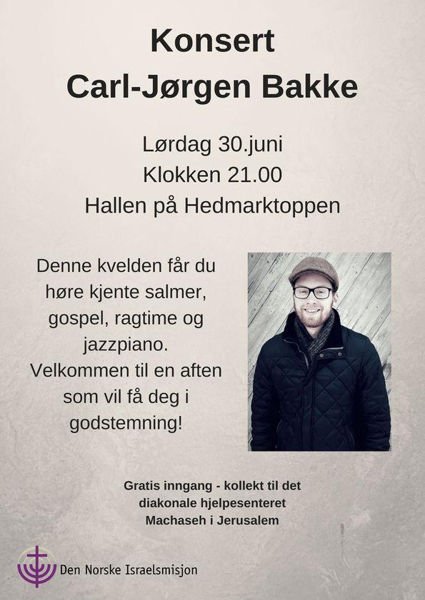 Konsert med Carl-Jørgen Bakke